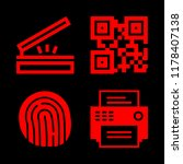 scanner icons set with fax ... | Shutterstock .eps vector #1178407138