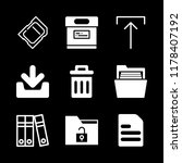9 file icons with camera memory ... | Shutterstock .eps vector #1178407192