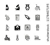 healthcare icons set with... | Shutterstock .eps vector #1178407195