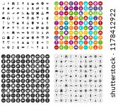 100 outfit icons set in 4... | Shutterstock . vector #1178412922