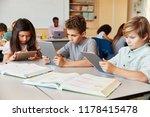 elementary school kids using... | Shutterstock . vector #1178415478