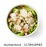 caesar salad in paper bowl for... | Shutterstock . vector #1178418982