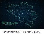 map belgium. wire frame 3d mesh ... | Shutterstock .eps vector #1178431198
