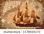 an old geographic map of the... | Shutterstock .eps vector #1178433172