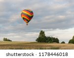 colorful hot air balloon flying ... | Shutterstock . vector #1178446018