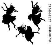 alice girl in dress falling... | Shutterstock .eps vector #1178449162