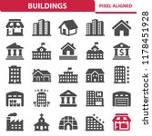 buildings icons. professional ... | Shutterstock .eps vector #1178451928