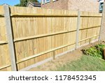 a brand new close boarded fence ... | Shutterstock . vector #1178452345