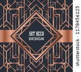 art deco label vintage cover... | Shutterstock .eps vector #1178456125