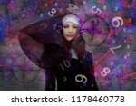 woman and numerology world | Shutterstock . vector #1178460778