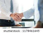 sealing a deal  business people ... | Shutterstock . vector #1178461645