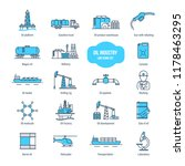 oil industry thin line icons ... | Shutterstock . vector #1178463295