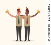 two office workers drinking... | Shutterstock .eps vector #1178463862