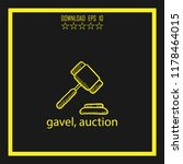 gavel  sketch vector icon