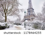 scenic view to the eiffel tower ... | Shutterstock . vector #1178464255