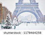 scenic view to the eiffel tower ... | Shutterstock . vector #1178464258