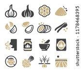 garlic icon set | Shutterstock .eps vector #1178468395