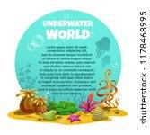 beautiful bright unferwater... | Shutterstock .eps vector #1178468995