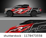 car decal wrap  truck and... | Shutterstock .eps vector #1178473558