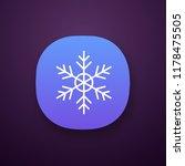 snowflake app icon. ui ux user...