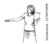 vector sketch of asian woman is ... | Shutterstock .eps vector #1178475898