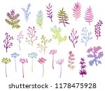 willow and palm tree branches ... | Shutterstock .eps vector #1178475928