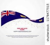 turks and caicos islands happy... | Shutterstock .eps vector #1178477515