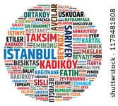 districts of istanbul. vector... | Shutterstock .eps vector #1178481808
