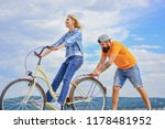 woman rides bicycle sky... | Shutterstock . vector #1178481952