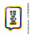 no one is you and that is your... | Shutterstock .eps vector #1178483065