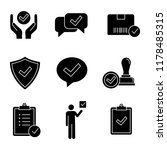 approve glyph icons set.... | Shutterstock .eps vector #1178485315