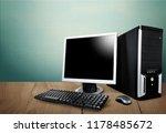 Desktop Computer And Keyboard...