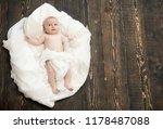 newborn toddler with blue eyes... | Shutterstock . vector #1178487088