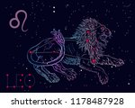 leo zodiac sign and...   Shutterstock .eps vector #1178487928