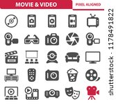 movie   video icons.... | Shutterstock .eps vector #1178491822