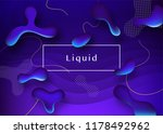 liquid color background design. ... | Shutterstock .eps vector #1178492962