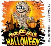 halloween design template with...   Shutterstock .eps vector #1178495752