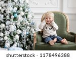 portrait little boy. happy new... | Shutterstock . vector #1178496388