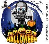 halloween design template with...   Shutterstock .eps vector #1178497855