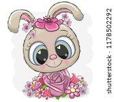 cute cartoon rabbit with... | Shutterstock .eps vector #1178502292