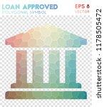 loan polygonal symbol  actual... | Shutterstock .eps vector #1178505472
