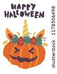 cute kawaii little pumpkin head ... | Shutterstock .eps vector #1178506498
