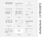 vector set of simple flat... | Shutterstock .eps vector #1178510872