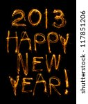 happy new year written in... | Shutterstock . vector #117851206