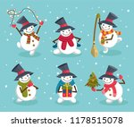 set of cute winter holiday... | Shutterstock .eps vector #1178515078
