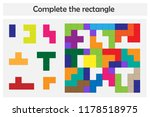 puzzle game with colorful... | Shutterstock .eps vector #1178518975