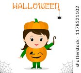 cute child dressed in costume... | Shutterstock .eps vector #1178521102