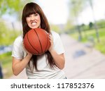 portrait of a young female with ... | Shutterstock . vector #117852376
