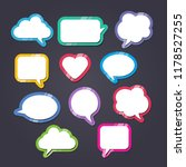 text balloons with different... | Shutterstock .eps vector #1178527255