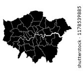 detailed accurate map of london ... | Shutterstock .eps vector #1178539885